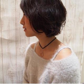ショート ストリート 大人女子 ボブ ヘアスタイルや髪型の写真・画像