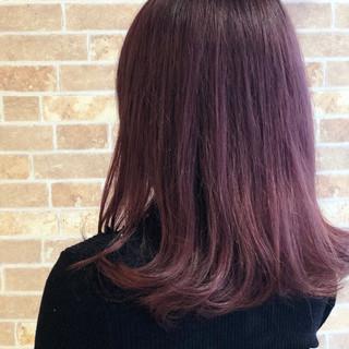 透明感 ピンクアッシュ ラベンダーピンク フェミニン ヘアスタイルや髪型の写真・画像