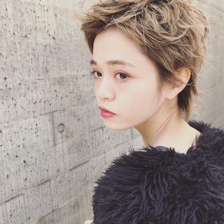 大人かわいい ハイトーン 外国人風 ベリーショート ヘアスタイルや髪型の写真・画像
