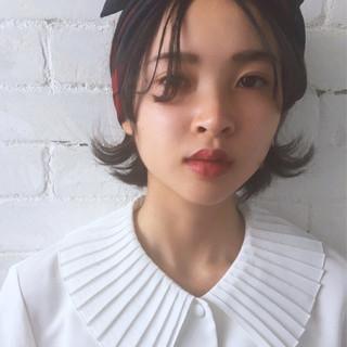 ナチュラル イルミナカラー 簡単ヘアアレンジ 前髪あり ヘアスタイルや髪型の写真・画像