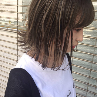 透明感 外国人風 ボブ 前髪あり ヘアスタイルや髪型の写真・画像