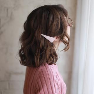 ゆるふわ 簡単ヘアアレンジ ボブ ヘアアレンジ ヘアスタイルや髪型の写真・画像