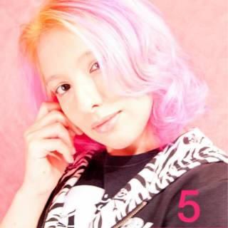 春 グラデーションカラー ストリート ピンク ヘアスタイルや髪型の写真・画像