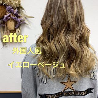 ハイライト 外国人風カラー ストリート 大人ハイライト ヘアスタイルや髪型の写真・画像