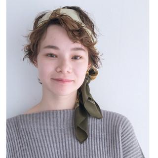 モード ヘアアレンジ パーマ ショート ヘアスタイルや髪型の写真・画像 ヘアスタイルや髪型の写真・画像