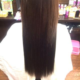黒髪 大人かわいい 暗髪 ロング ヘアスタイルや髪型の写真・画像