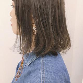 ナチュラル ロブ ミディアム 透明感 ヘアスタイルや髪型の写真・画像