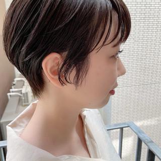 大人かわいい デート ナチュラル ベリーショート ヘアスタイルや髪型の写真・画像