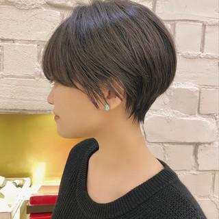 ショートヘア ショート ナチュラル デート ヘアスタイルや髪型の写真・画像
