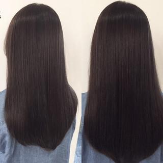 パーマ ストリート ストレート 縮毛矯正 ヘアスタイルや髪型の写真・画像