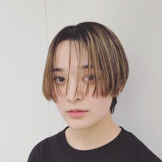 ストリート 前髪あり 外国人風 大人かわいい ヘアスタイルや髪型の写真・画像