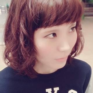 フェミニン ガーリー オン眉 モテ髪 ヘアスタイルや髪型の写真・画像