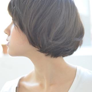 ショートマッシュ パーマ ショート ゆるふわパーマ ヘアスタイルや髪型の写真・画像