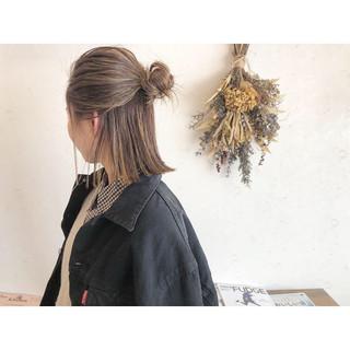 ナチュラル ヘアアレンジ 簡単ヘアアレンジ ボブ ヘアスタイルや髪型の写真・画像 | 森下佳哲 / lufun hair design