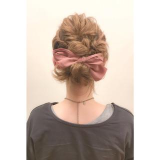 パーティ ショート ガーリー 簡単ヘアアレンジ ヘアスタイルや髪型の写真・画像