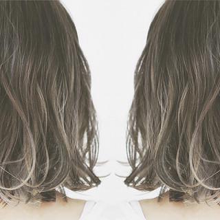 バレイヤージュ インナーカラー ボブ ハイライト ヘアスタイルや髪型の写真・画像 ヘアスタイルや髪型の写真・画像