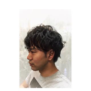 黒髪 パーマ ストリート ショート ヘアスタイルや髪型の写真・画像