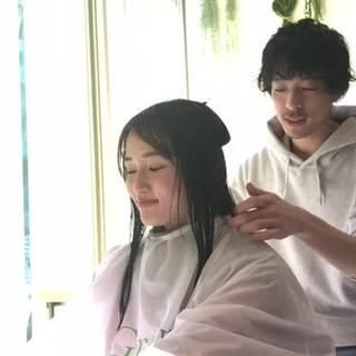 前髪あり ミディアム フリンジバング 小顔 ヘアスタイルや髪型の写真・画像