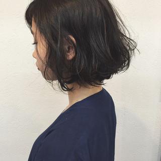 パーマ 色気 ナチュラル ボブ ヘアスタイルや髪型の写真・画像 ヘアスタイルや髪型の写真・画像