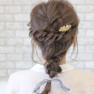 キュート フェミニン 涼しげ ヘアアレンジ ヘアスタイルや髪型の写真・画像