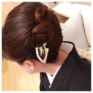 ヘアアレンジ 夜会巻 和服 着物 ヘアスタイルや髪型の写真・画像