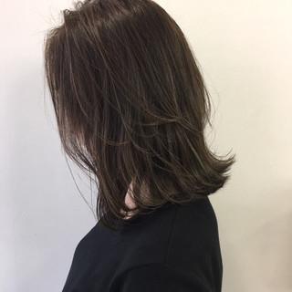 ボブ おフェロ ベージュ 暗髪 ヘアスタイルや髪型の写真・画像