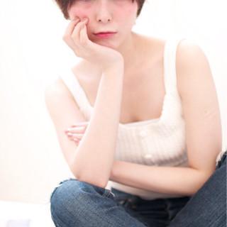 ピュア ガーリー ショート ストレート ヘアスタイルや髪型の写真・画像 ヘアスタイルや髪型の写真・画像