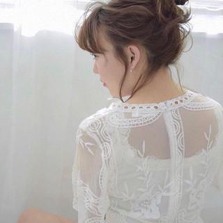 結婚式 セミロング 簡単ヘアアレンジ スポーツ ヘアスタイルや髪型の写真・画像 ヘアスタイルや髪型の写真・画像