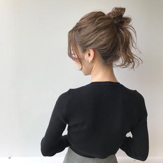 ミルクティー ナチュラル 簡単ヘアアレンジ ショート ヘアスタイルや髪型の写真・画像 ヘアスタイルや髪型の写真・画像