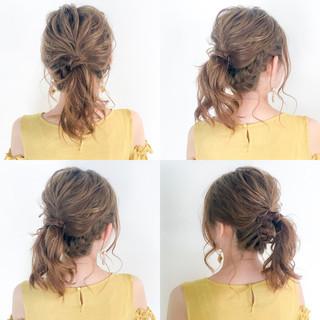デート フェミニン セミロング 結婚式 ヘアスタイルや髪型の写真・画像