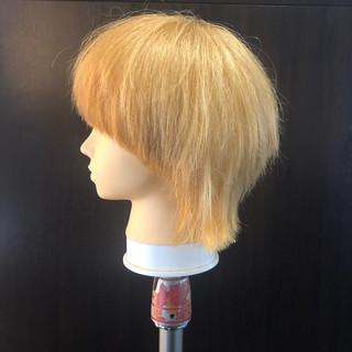 ウルフ ニュアンスウルフ ミディアム ストリート ヘアスタイルや髪型の写真・画像