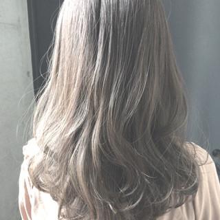 艶髪 外国人風カラー セミロング 外国人風 ヘアスタイルや髪型の写真・画像