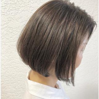 ラベンダーアッシュ デート 簡単ヘアアレンジ ミニボブ ヘアスタイルや髪型の写真・画像