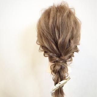 簡単ヘアアレンジ 大人かわいい ショート セミロング ヘアスタイルや髪型の写真・画像