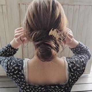 ヘアアレンジ フェミニン 結婚式 デート ヘアスタイルや髪型の写真・画像 ヘアスタイルや髪型の写真・画像