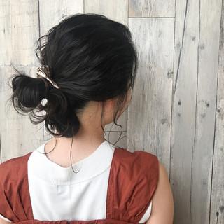 簡単ヘアアレンジ 涼しげ リラックス ヘアアレンジ ヘアスタイルや髪型の写真・画像