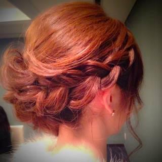 パーティ 大人かわいい ヘアアレンジ アップスタイル ヘアスタイルや髪型の写真・画像