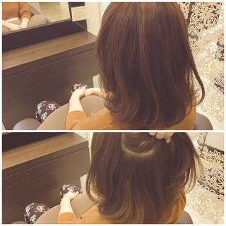 抜け感 ハイライト インナーカラー ミディアム ヘアスタイルや髪型の写真・画像