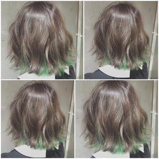 外国人風 暗髪 ガーリー グラデーションカラー ヘアスタイルや髪型の写真・画像