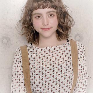 ボブ デート フェミニン 外ハネボブ ヘアスタイルや髪型の写真・画像