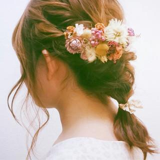 ナチュラル 簡単ヘアアレンジ かわいい ヘアアレンジ ヘアスタイルや髪型の写真・画像
