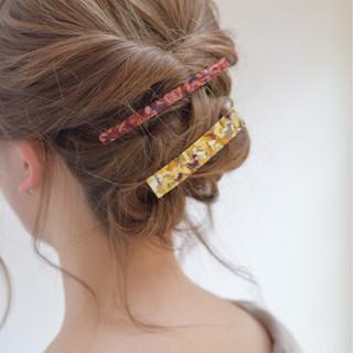 セミロング ガーリー 結婚式 デート ヘアスタイルや髪型の写真・画像
