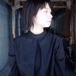ショート ラフ 大人女子 モード ヘアスタイルや髪型の写真・画像