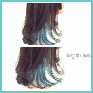 イルミナカラー ブリーチ セミロング ダブルカラー ヘアスタイルや髪型の写真・画像