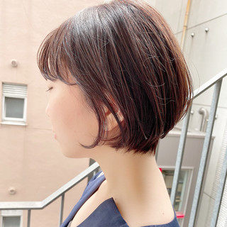 ナチュラル ショート ショートヘア 大人かわいい ヘアスタイルや髪型の写真・画像