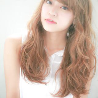 ロング ピュア パーマ 大人かわいい ヘアスタイルや髪型の写真・画像