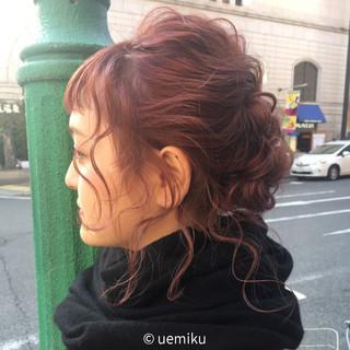 簡単ヘアアレンジ ミディアム デート ナチュラル ヘアスタイルや髪型の写真・画像