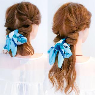 ロング 上品 簡単ヘアアレンジ エレガント ヘアスタイルや髪型の写真・画像