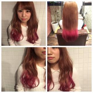 ストリート グラデーションカラー パンク 春 ヘアスタイルや髪型の写真・画像