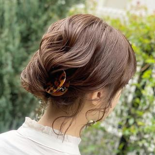 夜会巻 ヘアアレンジ アンニュイほつれヘア ナチュラル ヘアスタイルや髪型の写真・画像 | Kaoru_ishiga / RadiaL HAIR DESIGN